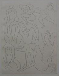 """Henri Matisse (French, 1869-1954). [Untitled] (Illustration for the Poem """"L'Après-midi d'un Faune""""), 1932. Etching on wove paper, Sheet: 13 x 9 13/16 in. (33 x 24.9 cm). Brooklyn Museum, Carll H. de Silver Fund, 36.67.15. © artist or artist's estate"""