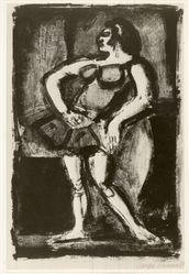 Georges Rouault (French, 1871-1958). Carmencita. Lithograph on wove Arches paper, 13 9/16 x 8 15/16 in. (34.5 x 22.7 cm). Brooklyn Museum, By exchange, 37.115. © artist or artist's estate