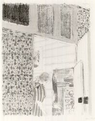 Édouard Vuillard (French, 1868-1940). Interior with Pink Wallpaper III (Intérieur aux tentures roses III), 1899. Color lithograph on China paper, Image: 13 1/2 x 10 1/16 in. (34.3 x 25.6 cm). Brooklyn Museum, By exchange, 37.149.8. © artist or artist's estate