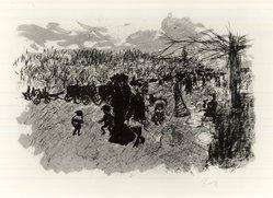 Pierre Bonnard (French, 1867-1947). Avenue du Bois de Boulogne, ca. 1898. Color lithograph on wove paper, Image: 12 3/8 x 19 in. (31.4 x 48.3 cm). Brooklyn Museum, By exchange, 37.457. © artist or artist's estate
