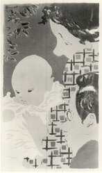 Pierre Bonnard (French, 1867-1947). Family Scene (Scène de famille), 1892. Lithograph in three colors on wove paper, 12 1/4 x 7 in. (31.1 x 17.8 cm). Brooklyn Museum, Charles Stewart Smith Memorial Fund, 38.335. © artist or artist's estate