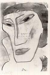 Karl Schmidt-Rottluff (German, 1884-1976). Female Head (Weiblicher Kopf), 1914. Lithograph on laid paper, Image: 10 13/16 x 7 1/2 in. (27.5 x 19.1 cm). Brooklyn Museum, By exchange, 38.565. © artist or artist's estate
