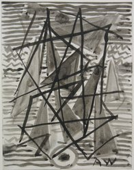 Abraham Walkowitz (American, born Siberia, 1878-1965). Abstraction in Grey and Black No. 4, n.d. Ink wash with brush on paper, Sheet: 6 3/4 x 5 1/4 in. (17.1 x 13.3 cm). Brooklyn Museum, Gift of the artist, 39.497. © artist or artist's estate