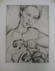 Luis Quintanilla (American, born Santander, Spain, 1893-1978). Paulette, n.d. Etching and drypoint on paper, sheet: 16 1/2 x 12 7/8 in. (41.9 x 32.7 cm). Brooklyn Museum, Dick S. Ramsay Fund, 40.49. © artist or artist's estate