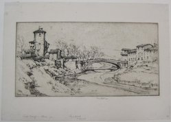 Ernest David Roth (American, 1879-1964). Campi Bizenzio, Florence, 1924. Etching on laid paper, Mat: 19 5/16 x 14 7/16 in. (49.1 x 36.6 cm). Brooklyn Museum, Gift of William M. Lybrand, 40.944. © artist or artist's estate