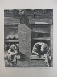 Lawrence Beall Smith (American, 1909-1995). The Gossips, 1938. Lithograph on paper, Sheet: 16 x 12 in. (40.6 x 30.5 cm). Brooklyn Museum, Dick S. Ramsay Fund, 41.1167. © artist or artist's estate