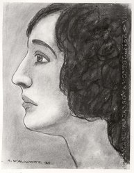 Abraham Walkowitz (American, born Siberia, 1878-1965). Woman's Head #10, 1928. Pastel on light blue paper, 12 7/16 x 9 9/16 in. (31.6 x 24.3 cm). Brooklyn Museum, Gift of the artist, 41.163. © artist or artist's estate