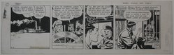 Milton A. Caniff (American, 1907-1988). Terry and the Pirates, 1940. Pen and ink on paper, sheet: 7 1/4 x 23 in. (18.4 x 58.4 cm). Brooklyn Museum, Gift of the Daily News, 41.206. © artist or artist's estate