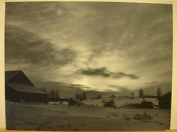 Dr. Stephen White (American, 20th century). January Sunset, ca. 1940. Photograph, chloride blue toned, Sheet: 11 x 14 in. (27.9 x 35.6 cm). Brooklyn Museum, Gift of the artist, 41.629. © artist or artist's estate