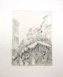 Raoul Dufy (French, 1877-1953). Etching for Chapter 11 of La Belle Enfant. Etching, Sheet: 12 3/4 x 9 13/16 in. (32.4 x 25 cm). Brooklyn Museum, Charles Stewart Smith Memorial Fund, 41.858.13. © artist or artist's estate