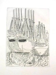 Raoul Dufy (French, 1877-1953). Etching for Chapter XII of La Belle Enfant. Etching, Sheet: 12 5/8 x 9 15/16 in. (32 x 25.2 cm). Brooklyn Museum, Charles Stewart Smith Memorial Fund, 41.858.14. © artist or artist's estate
