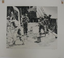 Phillip Kappel (American, 1901-1981). The Holy Stoners- West Indies, 20th century. Drypoint on white laid paper, Sheet: 13 13/16 x 15 3/8 in. (35.1 x 39.1 cm). Brooklyn Museum, Gift of A. Edward Scherr, Jr., 42.277. © artist or artist's estate