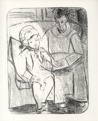 Pablo Picasso (Spanish, 1881-1973). La Lecture, 1926. Lithograph on heavy wove paper, Sheet: 25 15/16 x 20 1/16 in. (65.9 x 51 cm). Brooklyn Museum, Ella C. Woodward Memorial Fund, 42.390. © artist or artist's estate