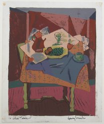 Henry Mark (American, born 1915). The Table, 20th century. Silkscreen on heavy wove paper, Image: 12 1/2 x 10 1/8 in. (31.8 x 25.7 cm). Brooklyn Museum, By exchange, 43.160. © artist or artist's estate