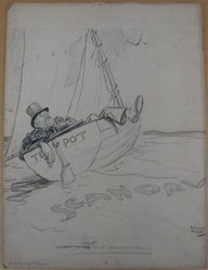 Rollin Kirby (American, 1875-1952). That Oily Ground Swell, early 20th century. Graphite, charcoal and gouache on paperboard, sheet: 19 15/16 x 14 15/16 in. (50.6 x 37.9 cm). Brooklyn Museum, Gift of the artist, 44.8.8. © artist or artist's estate