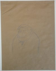 Alfred Frueh (American, 1880-1968). Sketch of Abraham Walkowitz, 1943. Graphite on paper, sheet: 10 7/16 x 8 1/16 in. (26.5 x 20.5 cm). Brooklyn Museum, Gift of Abraham Walkowitz, 47.146.2. © artist or artist's estate