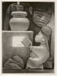 Jean Charlot (French, active in United States and Mexico, 1898-1979). Mexican Kitchen. Lithograph, 13 9/16 x 9 3/4 in. (34.4 x 24.8 cm). Brooklyn Museum, Dick S. Ramsay Fund, 47.59. © artist or artist's estate