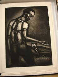 Georges Rouault (French, 1871-1958). En Tant d'Ordres Divers, le Beau  Métier d'Ensemencer une Terre Hostile., possibly 1926. Etching, aquatint, and heliogravure on laid Arches paper, 23 1/4 x 16 15/16 in. (59.1 x 43.1 cm). Brooklyn Museum, Frank L. Babbott Fund, 50.15.22. © artist or artist's estate