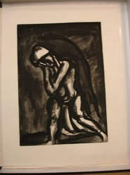 "Georges Rouault (French, 1871-1958). ""Hiver Lèpre de la Terre.,"" 1922. Etching, aquatint, and heliogravureon laid Arches paper on laid Arches paper, 20 1/4 x 14 7/16 in. (51.5 x 36.7 cm). Brooklyn Museum, Frank L. Babbott Fund, 50.15.24. © artist or artist's estate"