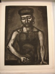 Georges Rouault (French, 1871-1958). Jean-François Jamais né Chante Alleluia..., 1923. Etching, aquatint, and heliogravure on laid Arches paper, 23 1/8 x 16 11/16 in. (58.7 x 42.4 cm). Brooklyn Museum, Frank L. Babbott Fund, 50.15.25. © artist or artist's estate