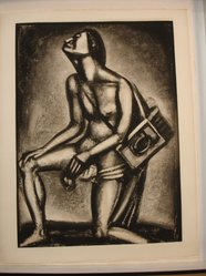 Georges Rouault (French, 1871-1958). Sunt Lacrymae Rerum..., 1926. Etching, aquatint, and heliogravure on laid Arches paper, 22 7/8 x 16 3/8 in. (58.1 x 41.6 cm). Brooklyn Museum, Frank L. Babbott Fund, 50.15.27. © artist or artist's estate