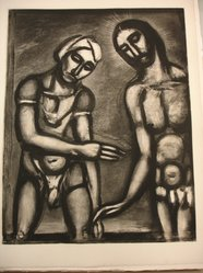 Georges Rouault (French, 1871-1958). Seigneur C'est Vous, je Vous Reconnais., 1927. Etching, aquatint, and heliogravure on laid Arches paper, 22 5/8 x 17 11/16 in. (57.5 x 45 cm). Brooklyn Museum, Frank L. Babbott Fund, 50.15.32. © artist or artist's estate
