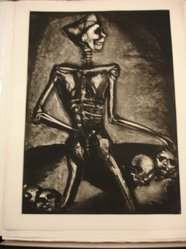 Georges Rouault (French, 1871-1958). Homo Homini Lupus., 1926. Etching, aquatint, and heliogravure on laid Arches paper, 22 7/8 x 16 9/16 in. (58.1 x 42 cm). Brooklyn Museum, Frank L. Babbott Fund, 50.15.37. © artist or artist's estate
