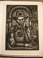 Georges Rouault (French, 1871-1958). Le Chinois Inventa, Dit-On la Poudre à Canon, Nous en Fit Don., 1926. Etching, aquatint, and heliogravure on laid Arches paper, 22 11/16 x 16 3/8 in. (57.7 x 41.6 cm). Brooklyn Museum, Frank L. Babbott Fund, 50.15.38. © artist or artist's estate