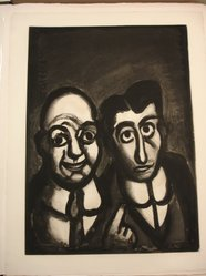 Georges Rouault (French, 1871-1958). Nous sommes fous., 1922. Etching, aquatint, and heliogravure on laid Arches paper, 22 7/16 x 16 1/4 in. (57 x 41.3 cm). Brooklyn Museum, Frank L. Babbott Fund, 50.15.39. © artist or artist's estate