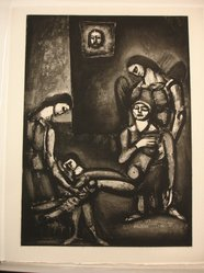 "Georges Rouault (French, 1871-1958). ""Le Juste, Comme le Bois de Santal Perfume la Hache Qui le Frappe.,"" 1926. Etching, aquatint, and heliogravure on laid Arches paper, 23 1/8 x 16 9/16 in. (58.8 x 42 cm). Brooklyn Museum, Frank L. Babbott Fund, 50.15.46. © artist or artist's estate"