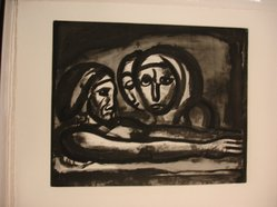 Georges Rouault (French, 1871-1958). Au Pressoir, le Raisin Fut Foulé., 1922. Etching, aquatint, and heliogravure on laid Arches paper, 15 5/8 x 19 3/16 in. (39.7 x 48.7 cm). Brooklyn Museum, Frank L. Babbott Fund, 50.15.48. © artist or artist's estate