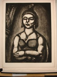 "Georges Rouault (French, 1871-1958). ""Des Ongles et du Bec.,"" 1926. Etching, aquatint, and heliogravure on laid Arches paper, 22 5/8 x 17 1/2 in. (57.5 x 44.4 cm). Brooklyn Museum, Frank L. Babbott Fund, 50.15.50. © artist or artist's estate"