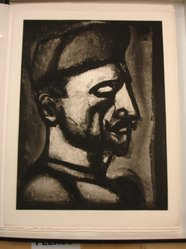Georges Rouault (French, 1871-1958). Dura Lex sed Lex., 1926. Etching, aquatint, and heliogravure on laid Arches paper, 22 9/16 x 17 1/8 in. (57.3 x 43.5 cm). Brooklyn Museum, Frank L. Babbott Fund, 50.15.52. © artist or artist's estate