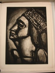 Georges Rouault (French, 1871-1958). Vierge Aux Sept Glaives., 1926. Etching, aquatint, and heliogravure on laid Arches paper, 23 x 16 1/8 in. (58.4 x 40.9 cm). Brooklyn Museum, Frank L. Babbott Fund, 50.15.53. © artist or artist's estate