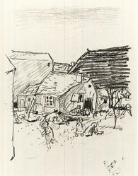 "Pierre Bonnard (French, 1867-1947). Landscape. Illustration for ""La Vie de Sainte Monique,"" 1924. Etching on laid paper, Plate: 11 1/4 x 9 in. (28.5 x 22.8 cm). Brooklyn Museum, Frederick Loeser Fund, 50.164.3. © artist or artist's estate"