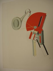 El Lissitzky (Russian, 1890-1941). Announcer (Ansager), 1923. Lithograph on heavy wove paper, 13 7/8 x 10 3/4 in. (35.2 x 27.3 cm). Brooklyn Museum, By exchange, 50.191.2. © artist or artist's estate
