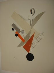 El Lissitzky (Russian, 1890-1941). Globetrotter (In Time), 1923. Lithograph, 14 3/16 x 10 1/16 in. (36 x 25.5 cm). Brooklyn Museum, By exchange, 50.191.5. © artist or artist's estate