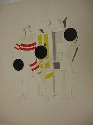 El Lissitzky (Russian, 1890-1941). Sportsmen (Sportsmänner), 1923. Lithograph on heavy wove paper, 12 3/8 x 11 in. (31.5 x 28 cm). Brooklyn Museum, By exchange, 50.191.6. © artist or artist's estate