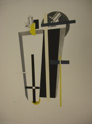 El Lissitzky (Russian, 1890-1941). Grave Diggers (Tolemgräber), 1923. Lithograph on heavy wove paper, 14 11/16 x 9 5/8 in. (37.3 x 24.5 cm). Brooklyn Museum, By exchange, 50.191.9. © artist or artist's estate