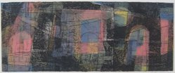 Joe Zirker (American, born 1924). Vision, 1953. Etching in color on wove paper, Sheet: 8 9/16 x 16 3/8 in. (21.8 x 41.6 cm). Brooklyn Museum, Dick S. Ramsay Fund, 53.25. © artist or artist's estate