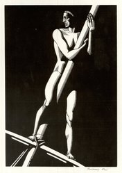 Rockwell Kent (American, 1882-1971). The Lookout, 1930. Wood engraving on maple, white wove paper, 8 x 5 1/2 in. (20.3 x 14 cm). Brooklyn Museum, Gift of Erhart Weyhe, 56.4.27. © artist or artist's estate