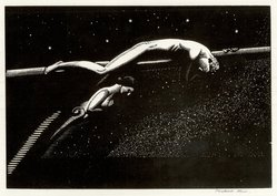 Rockwell Kent (American, 1882-1971). Over the Ultimate, 1926. Wood engraving on maple, white wove paper, 5 1/2 x 8 in. (14 x 20.3 cm). Brooklyn Museum, Gift of Erhart Weyhe, 56.4.28. © artist or artist's estate
