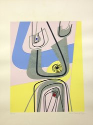 Enrico Prampolini (Italian, 1894-1965). Arte Astratta, 1955. Serigraph on wove paper, Sheet: 25 1/8 x 19 3/8 in. (63.8 x 49.2 cm). Brooklyn Museum, Carll H. de Silver Fund, 57.192.10. © artist or artist's estate