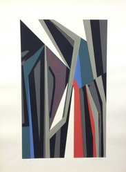 Alberto Moretti (Italian, born 1922). Arte Astratta, 1955. Serigraph on wove paper, Sheet: 25 3/16 x 19 1/4 in. (64 x 48.9 cm). Brooklyn Museum, Carll H. de Silver Fund, 57.192.11. © artist or artist's estate
