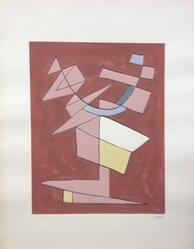 Alberto Magnelli (Italian, 1888-1971). Arte Astratta, 1955. Serigraph on wove paper, Sheet: 25 1/8 x 19 1/4 in. (63.8 x 48.9 cm). Brooklyn Museum, Carll H. de Silver Fund, 57.192.6. © artist or artist's estate