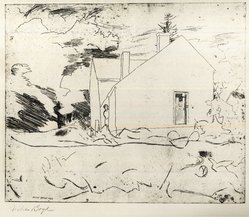 Fiske Boyd (American, 1895-1975). Woodshed - Farmhouse, 1926. Etching on paper Brooklyn Museum, Anonymous gift, 59.101.3. © artist or artist's estate