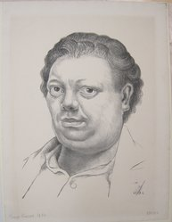 Diego Rivera (Mexican, 1886-1957). Self Portrait, 1930. Lithograph on paper, sheet: 20 1/8 x 14 15/16 in. (51.1 x 38 cm). Brooklyn Museum, Caroline A.L. Pratt Fund, 59.15.9. © artist or artist's estate