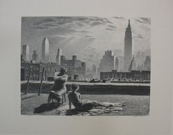 Martin Lewis (American, born Australia, 1883-1962). Sun-Bath, n.d. Lithograph on paper, sheet: 14 3/16 x 18 1/4 in. (36 x 46.4 cm). Brooklyn Museum, Gift of Mrs. Dudley Nichols in memory of her husband, 63.204.37. © artist or artist's estate