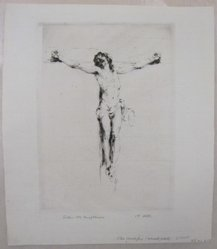 Arthur William Heintzelman (American, 1891-1965). Small Crucifix. Drypoint, Sheet: 10 7/16 x 9 1/16 in. (26.5 x 23 cm). Brooklyn Museum, Gift of The Louis E. Stern Foundation, Inc., 64.101.219. © artist or artist's estate
