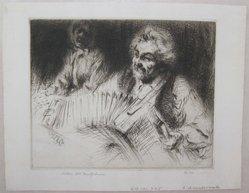 Arthur William Heintzelman (American, 1891-1965). L'Accordioniste. Drypoint, Sheet: 6 9/16 x 8 7/16 in. (16.7 x 21.4 cm). Brooklyn Museum, Gift of The Louis E. Stern Foundation, Inc., 64.101.225. © artist or artist's estate